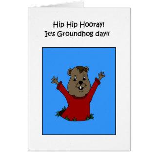 Hooray su tarjeta del día de la marmota