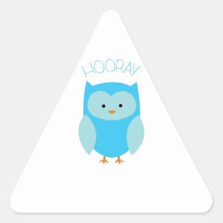 Hooray Triangle Sticker