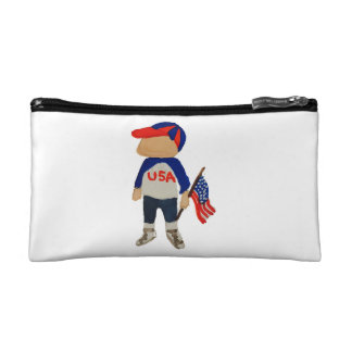 Hooray USA Red, White and Blue Toddie Time July 4 Cosmetic Bag
