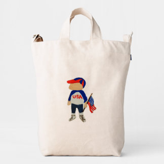Hooray USA Red, White and Blue Toddie Time July 4 Duck Bag