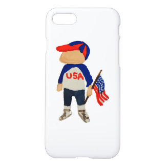 Hooray USA Red, White and Blue Toddie Time July 4 iPhone 7 Case