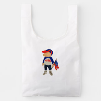 Hooray USA Red, White and Blue Toddie Time July 4 Reusable Bag