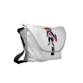 Hooray USA Red, White and Blue Toddie Time July 4 Small Messenger Bag