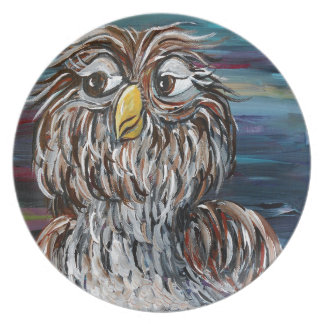 Hoo's Your Daddy? Dinner Plate