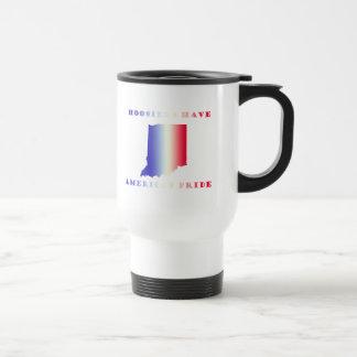 Hoosier americano del orgullo taza
