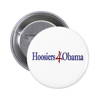 Hoosiers 4 Obama Pin Redondo De 2 Pulgadas