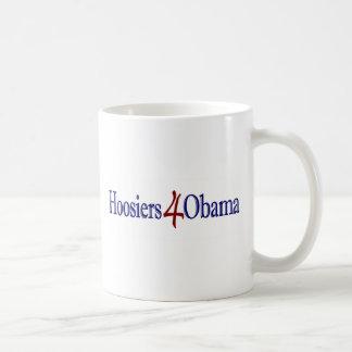 Hoosiers 4 Obama Tazas