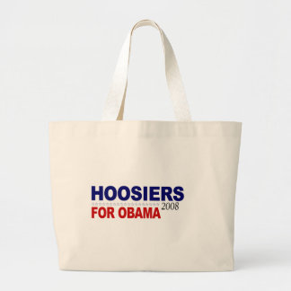 Hoosiers For Obama Large Tote Bag