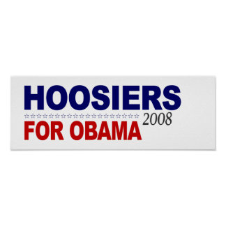Hoosiers For Obama Posters