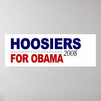 Hoosiers para Obama Poster