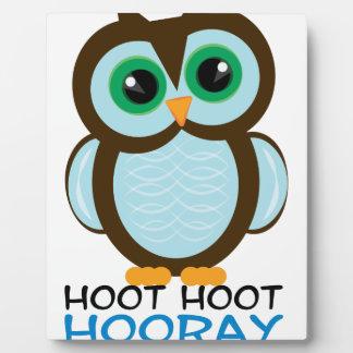Hoot Boy Display Plaque