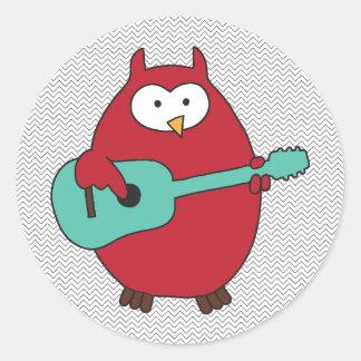 """Hoot""enanny Owl Classic Round Sticker"