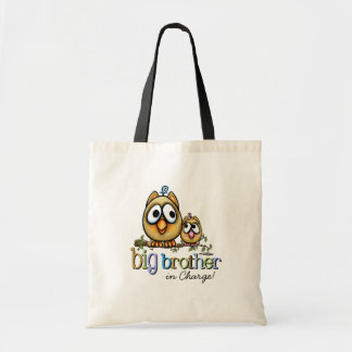 Hoot for Big Brother - Baby Sis Tote Bag