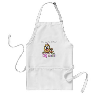 Hoot for Big Sister Adult Apron