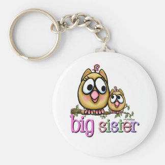 Hoot for Big Sister Keychain