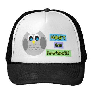 HOOT FOR FOOTBALL (CUTE OWLS) TRUCKER HAT