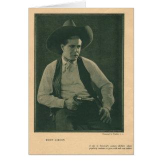 Hoot Gibson 1922 vintage portrait card
