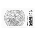 """Hoot Hollow Color It In Stamp, Large, 2.5"""" x 1.5"""" Postage"""