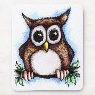 Hoot! Hoot! Owl mousepad