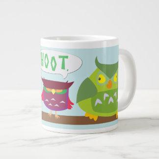 Hoot la taza colorida de los búhos 20oz taza grande