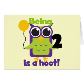 Hoot Owl 2nd Birthday T shirts and Gifts Card