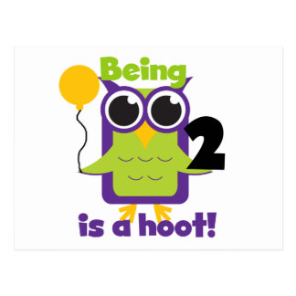 Hoot Owl 2nd Birthday T shirts and Gifts Postcard