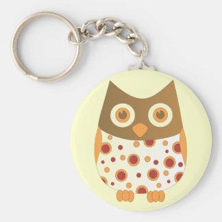Hoot Owl Basic Round Button Keychain