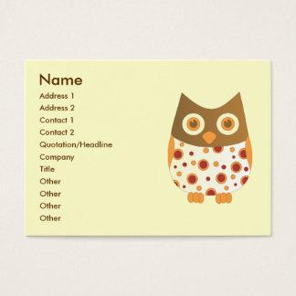 Hoot Owl Business Card