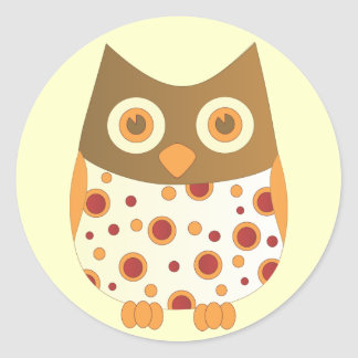 Hoot Owl Classic Round Sticker