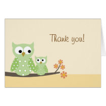 Hoot Owl Folded Thank you note card