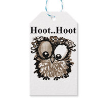 Hoot owl gift tags