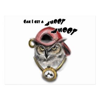 Hoot Owl Postcard