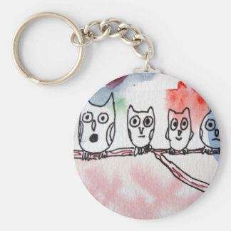 Hooter Family Sing Along Basic Round Button Keychain