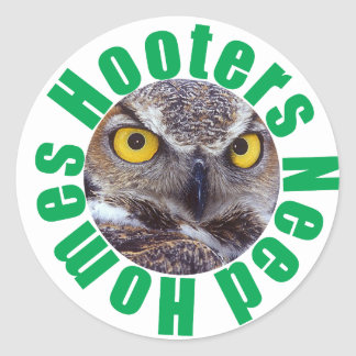 Hooters Need Homes Classic Round Sticker