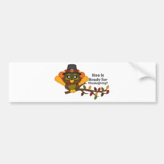 HooThanksgivingBL Bumper Sticker