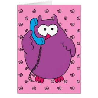 Hootie Call Card