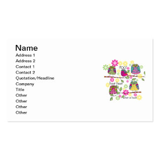 Hootie Owl Double-Sided Standard Business Cards (Pack Of 100)
