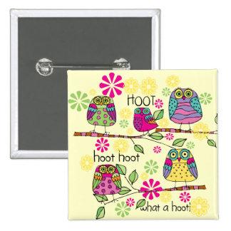 Hootie Owl Pinback Buttons