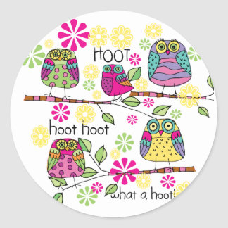 Hootie Owl Classic Round Sticker