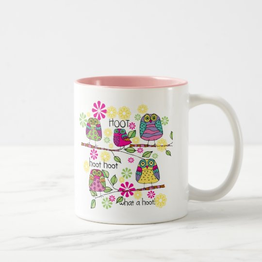 Hootie Owl Two-Tone Coffee Mug
