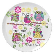 Hootie Owls Dinner Plate