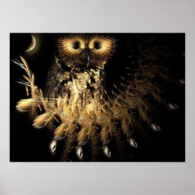 Hootie Owls Nest Print by dduhaime55. Hootie Owls Nest Poster