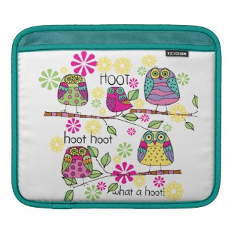 Hootie Owls Sleeves For iPads