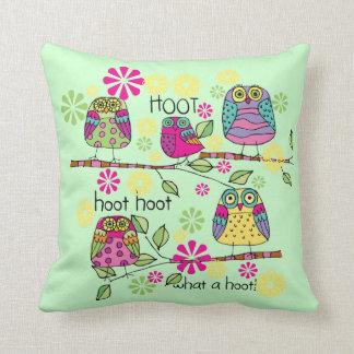 Hootie Owls Throw Pillow