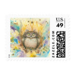 Hootie, The Wise Whimsical Grumpy Owl Postage