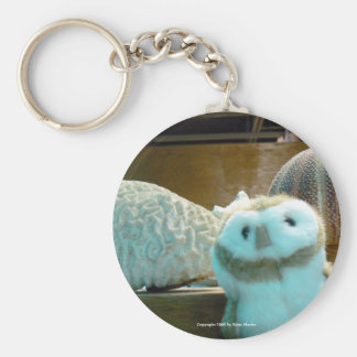 Hootin' Annie and Coral Basic Round Button Keychain