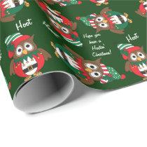 Hootin' Owl Christmas Wrapping Paper