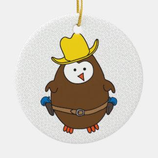 Hootin' Tootin' Owlboy Ceramic Ornament