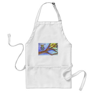 Hooting at the Moon Adult Apron