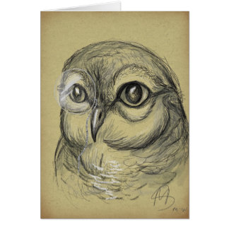 """Hooting Intellect"" design by Morgana Weeks Card"